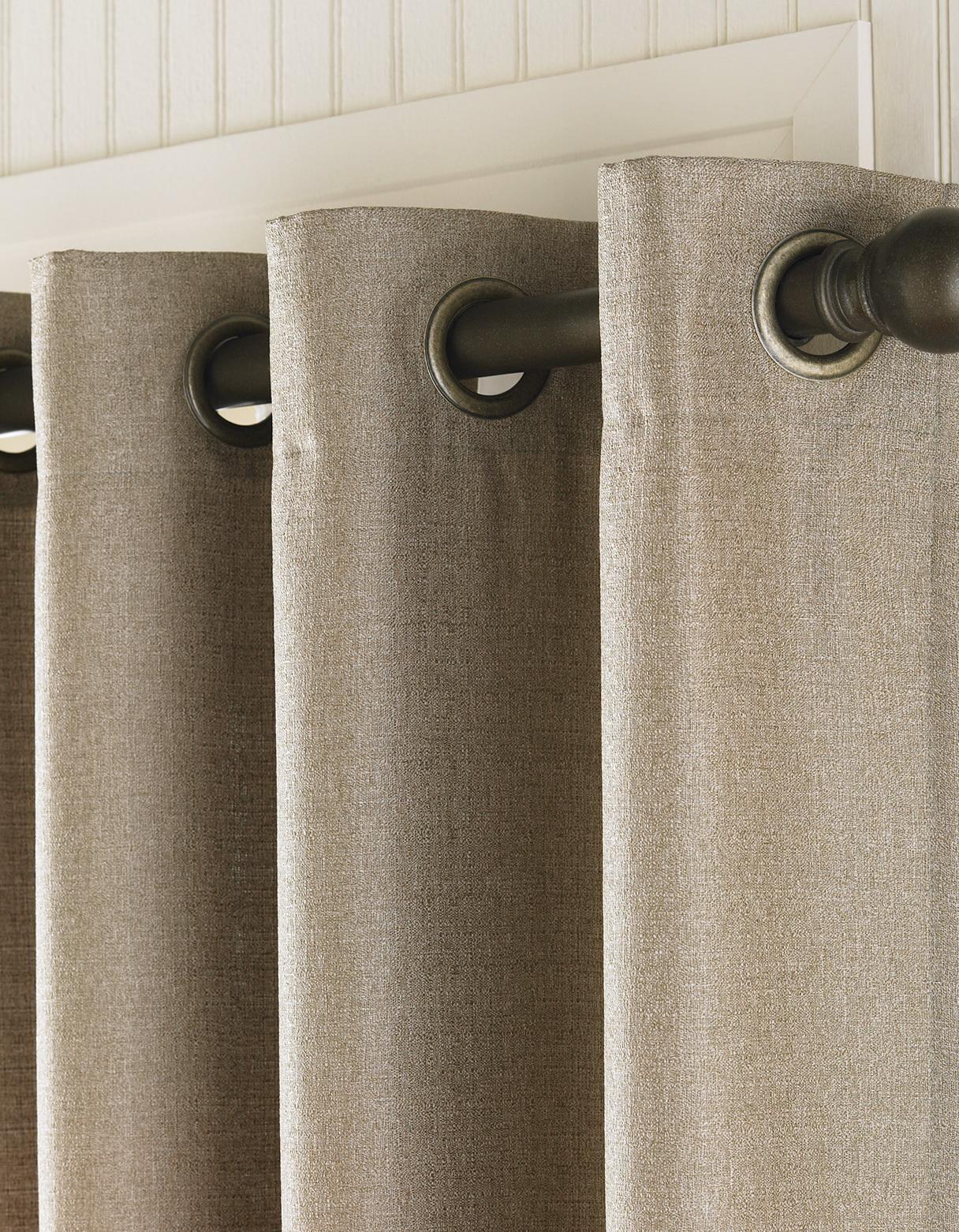 Curtain Rods For Grommet Drapes Home Design Ideas