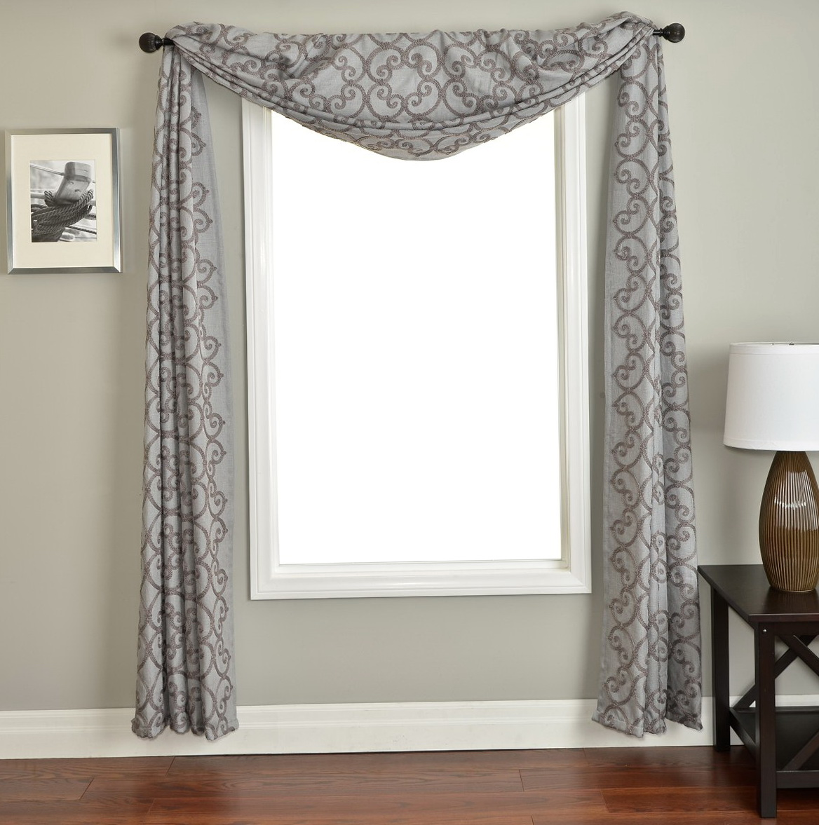 ideas valance image double window of swag scarf