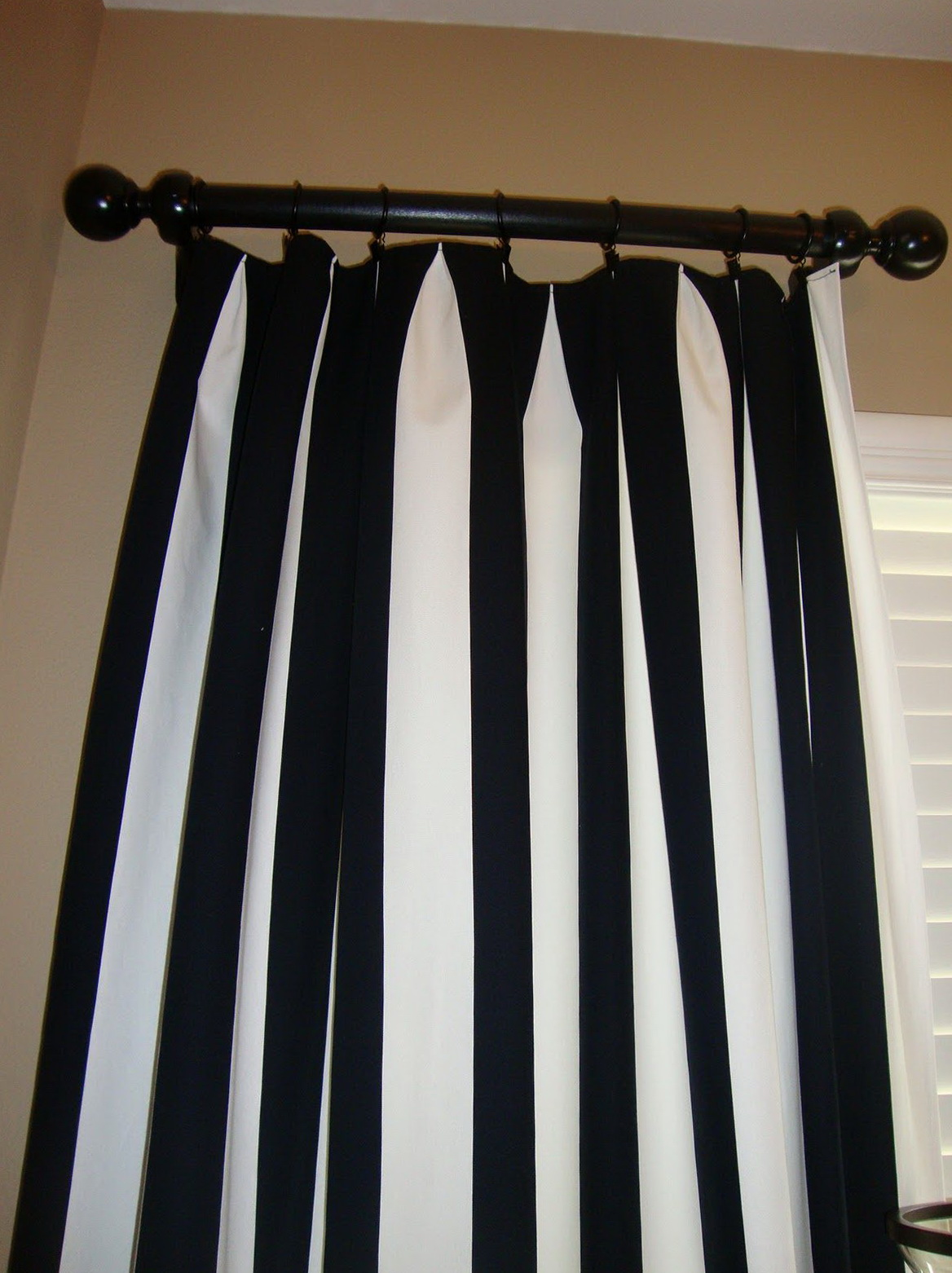 Curtains Black And White Stripe