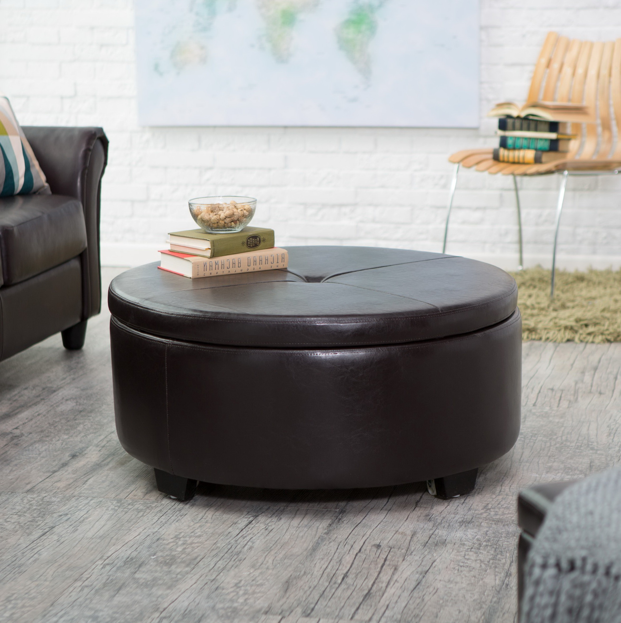 Cushion Coffee Table Ottoman Home Design Ideas