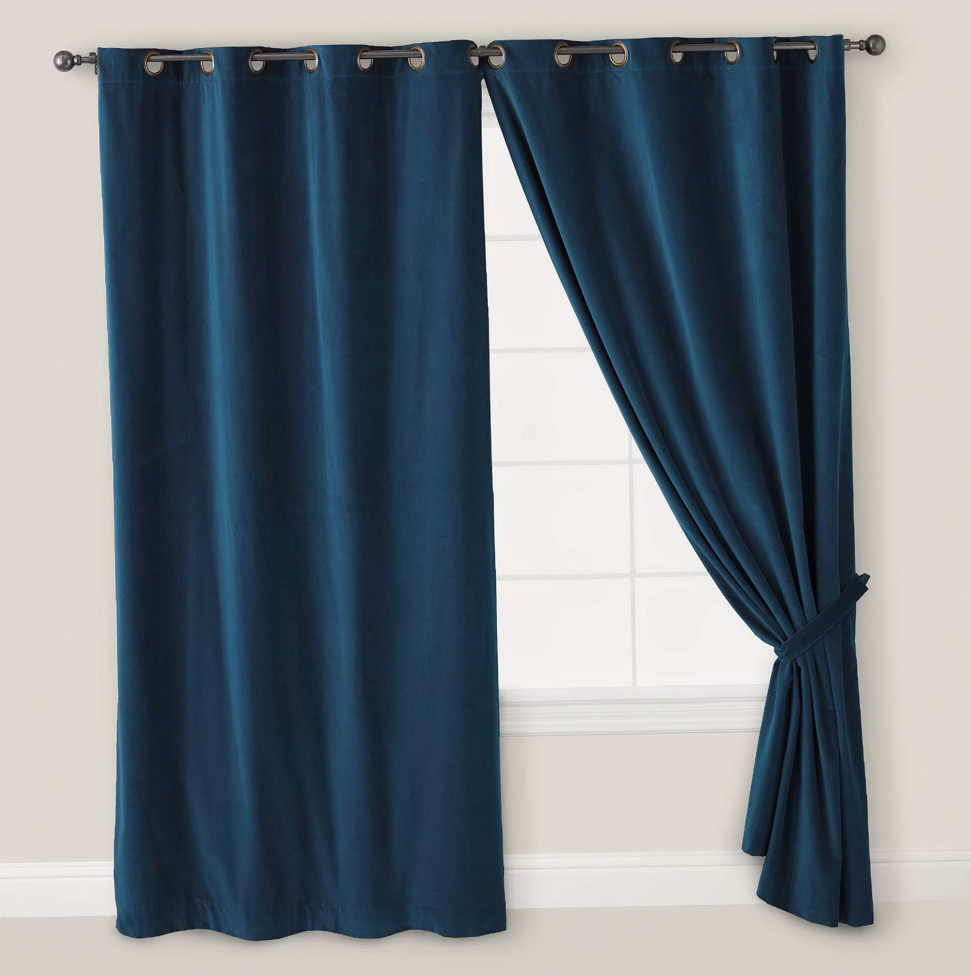 Dark Blue Bedroom Curtains Home Design Ideas