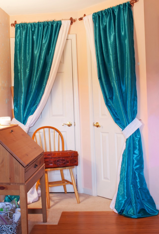 Diy Curtain Closet Door