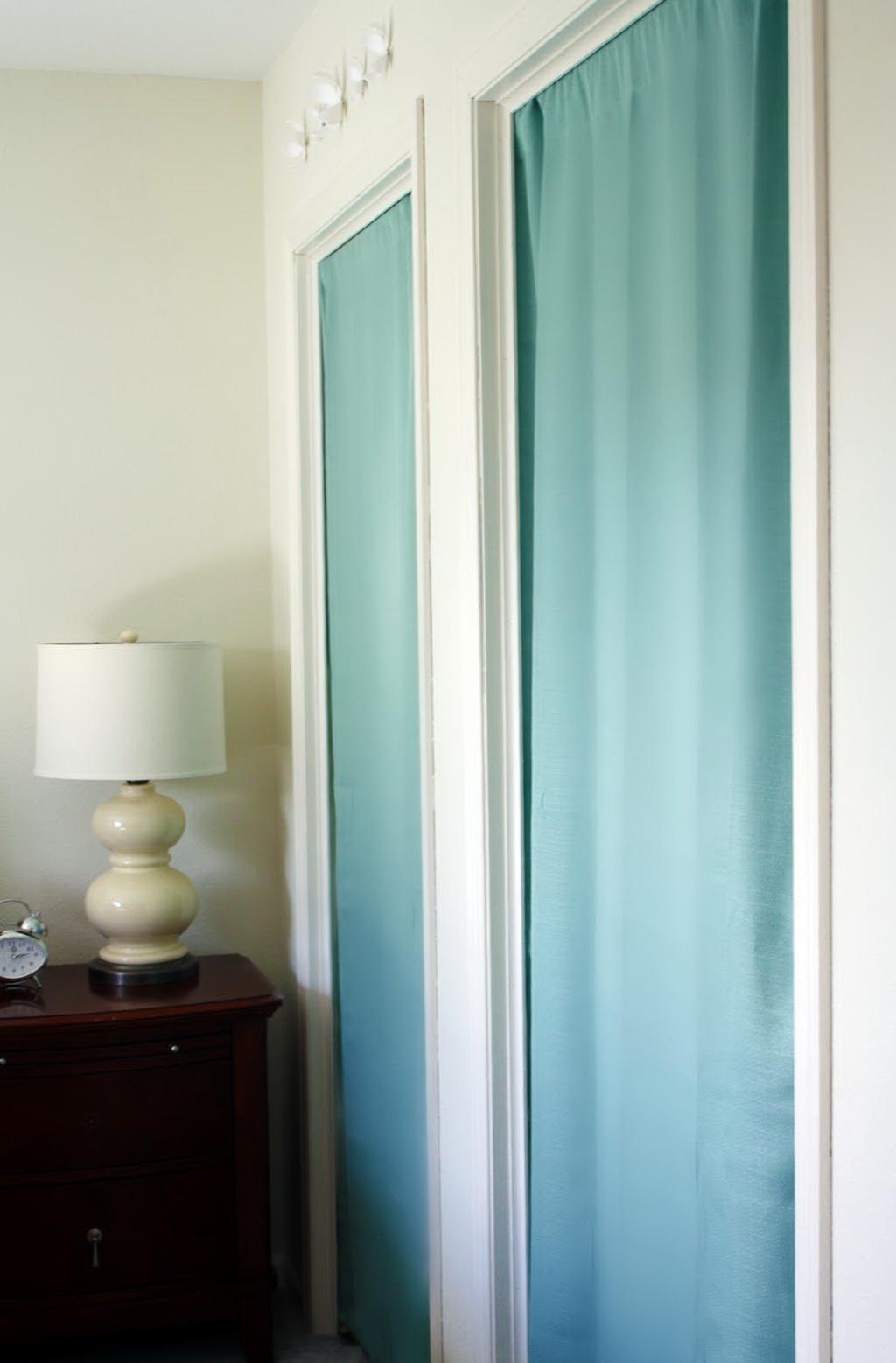 Diy Curtain Closet Doors