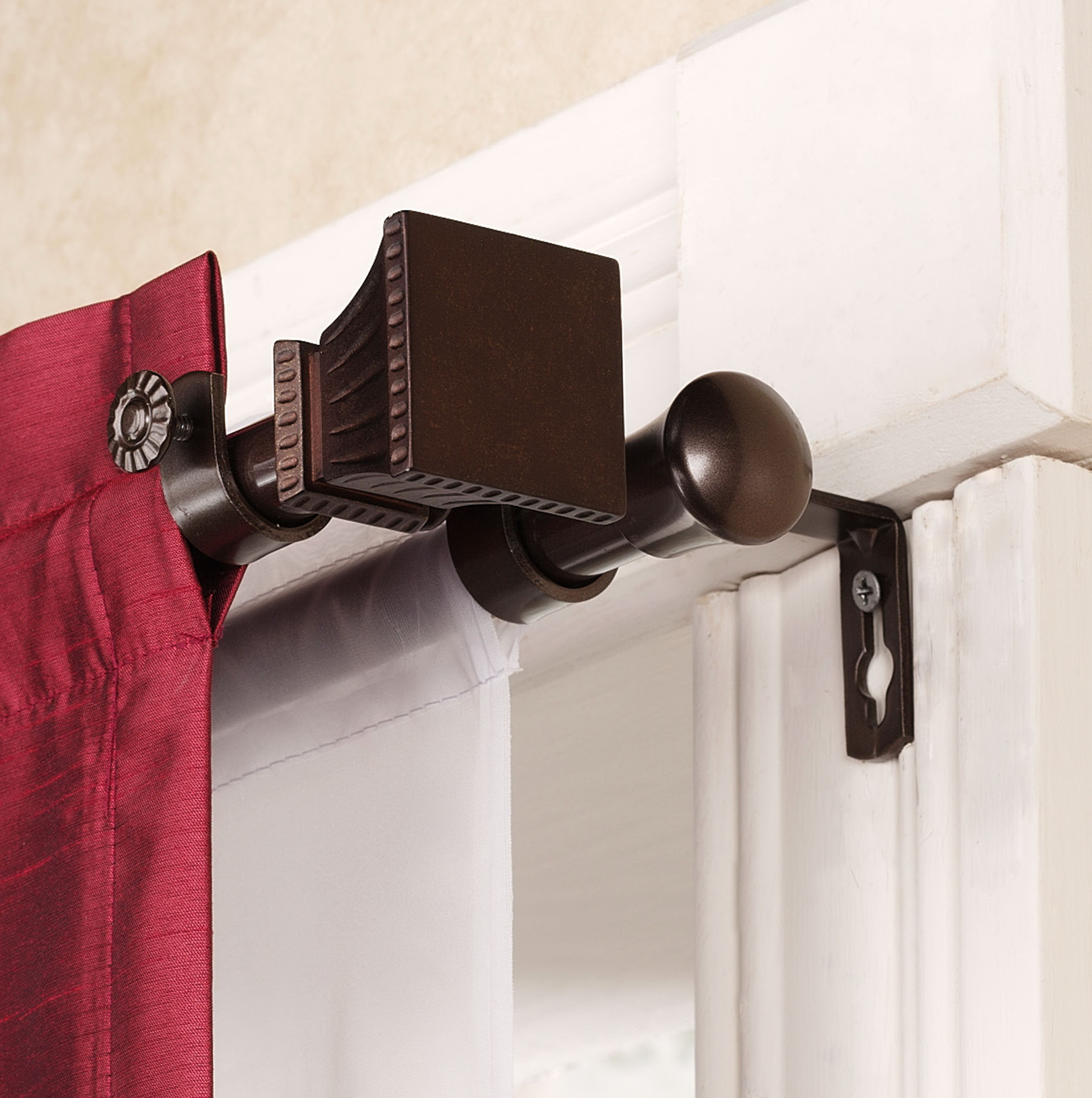 Double Curtain Rod Set
