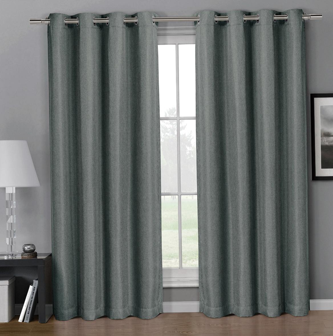 Faux Linen Curtains 96