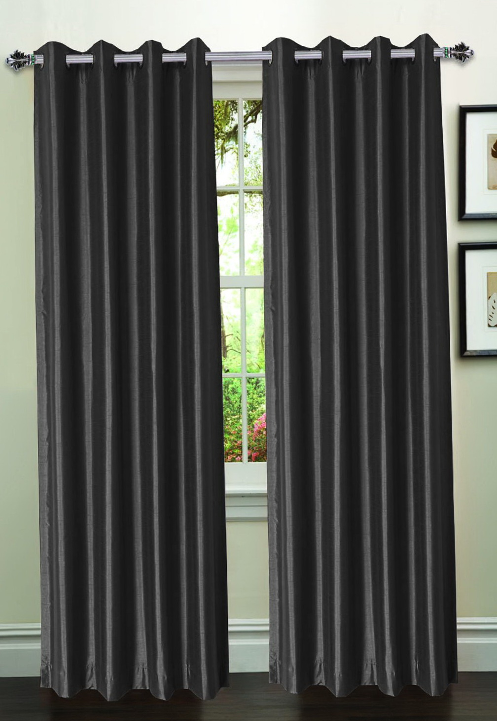 Faux Silk Curtain Panels 95 Inch