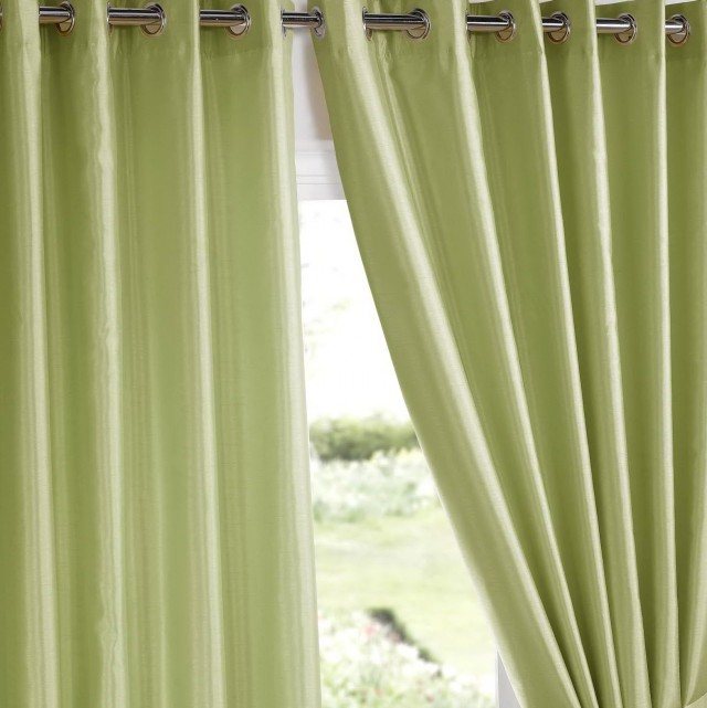 Faux Suede Curtains Cream