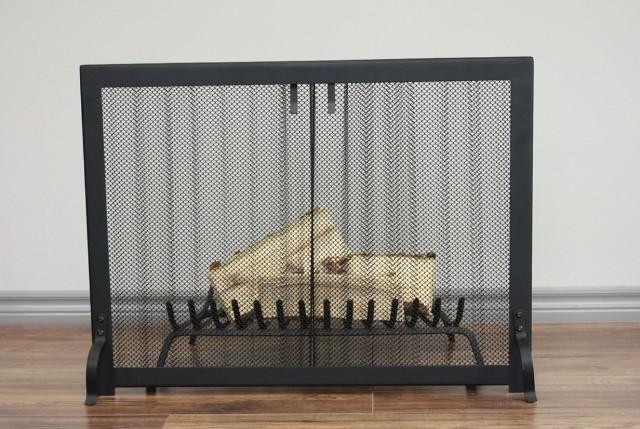 Fireplace Screen Curtain Mesh