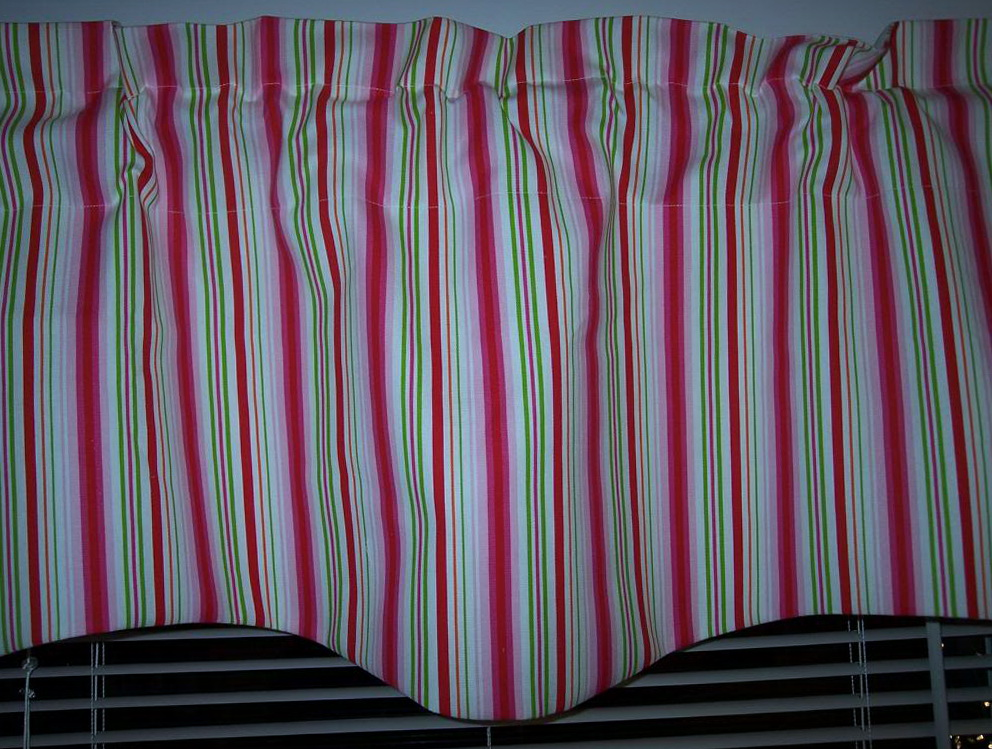 Green And Pink Striped Curtains Home Design Ideas