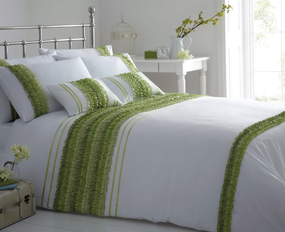 Green Bedding And Curtain Sets