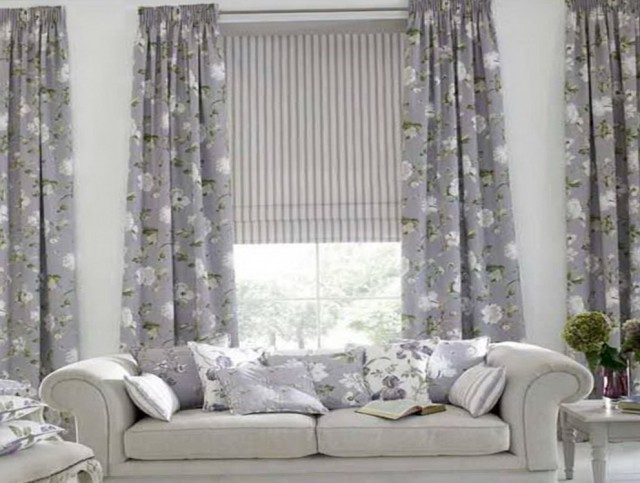 Grey Bay Window Curtains