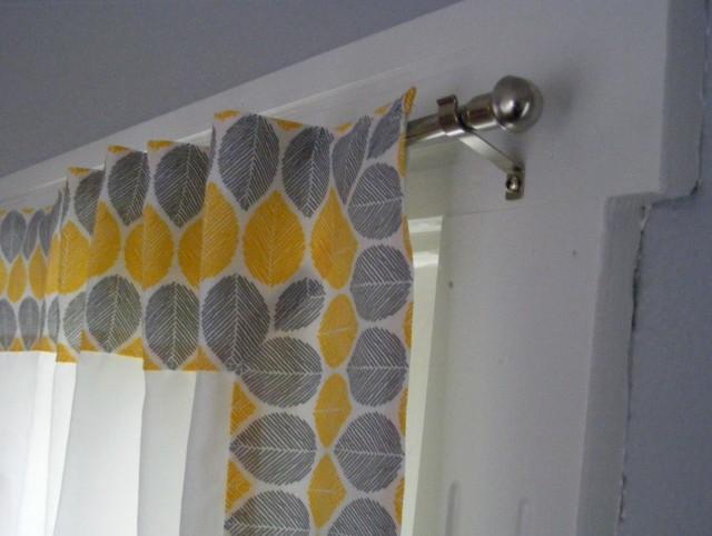 Grey Kitchen Window Curtains