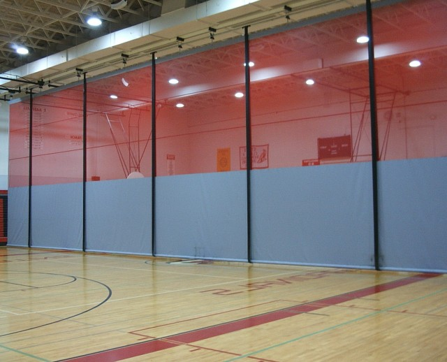 Gym divider curtains cost home design ideas