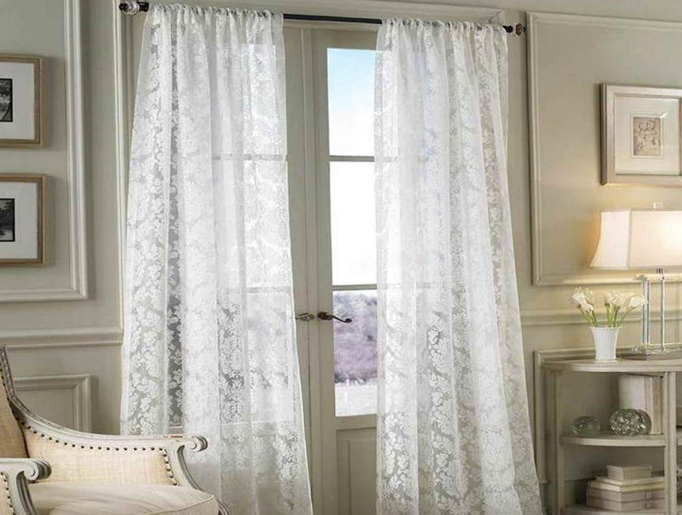 ikea white tab top curtains