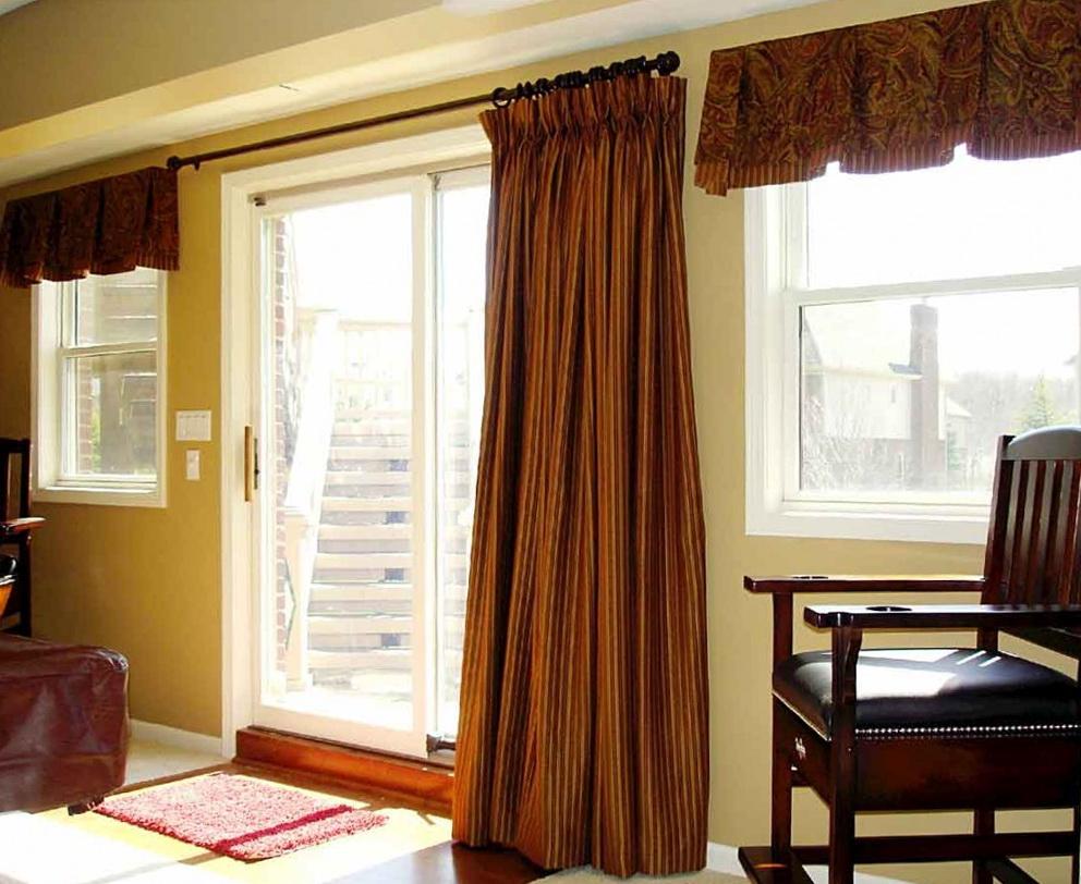 Kitchen Sliding Door Curtain Ideas