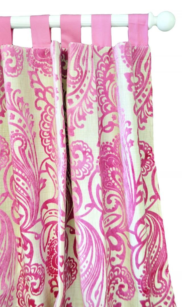 Light Pink Velvet Curtains