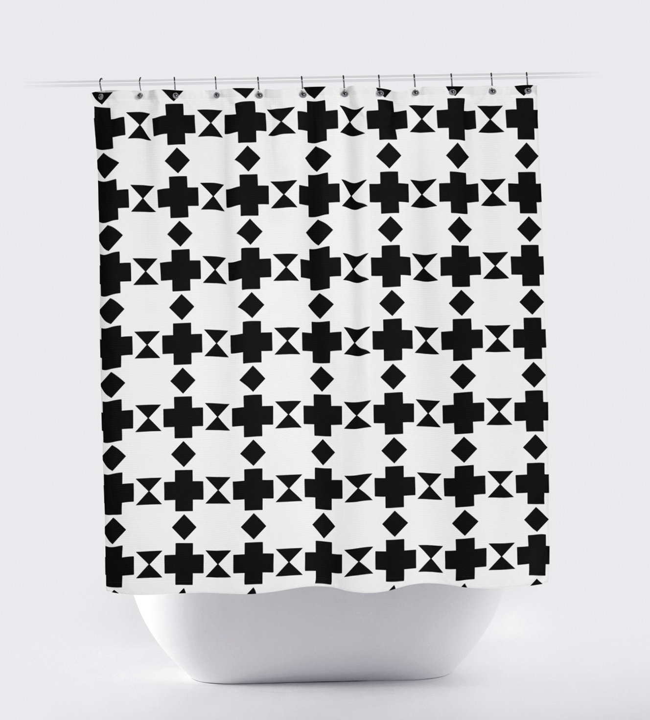 Modern Curtains Black And White