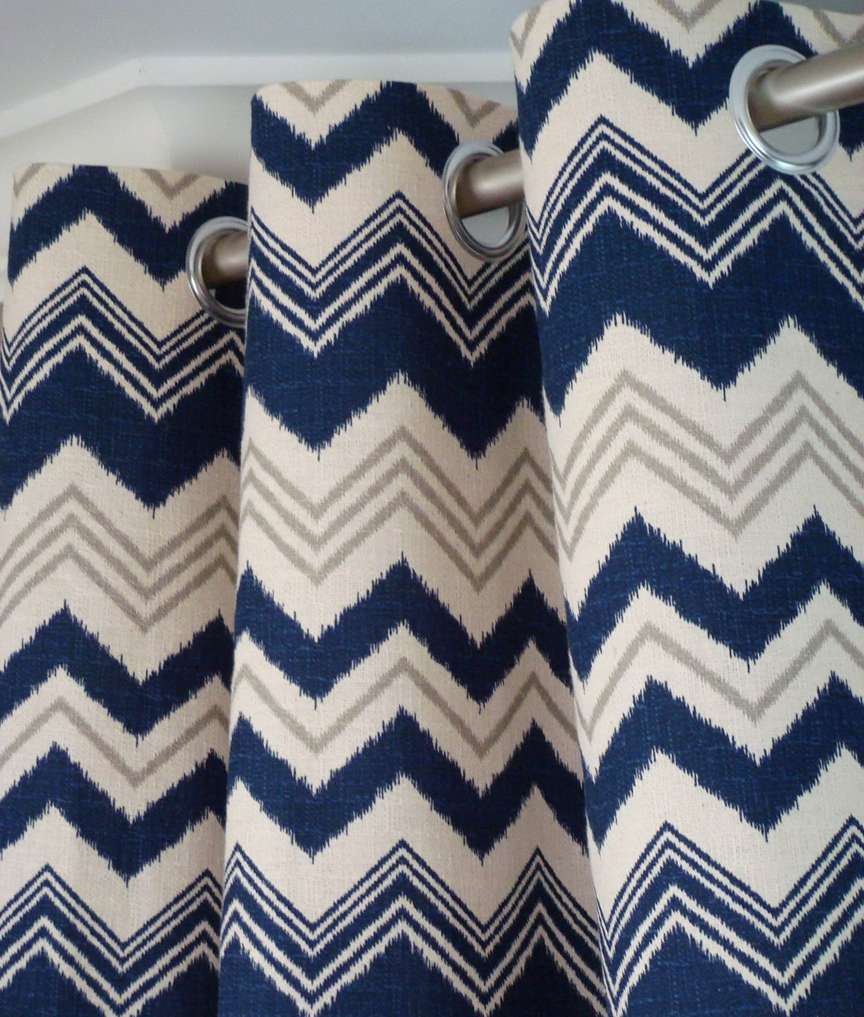 Navy Blue And Grey Curtains Home Design Ideas