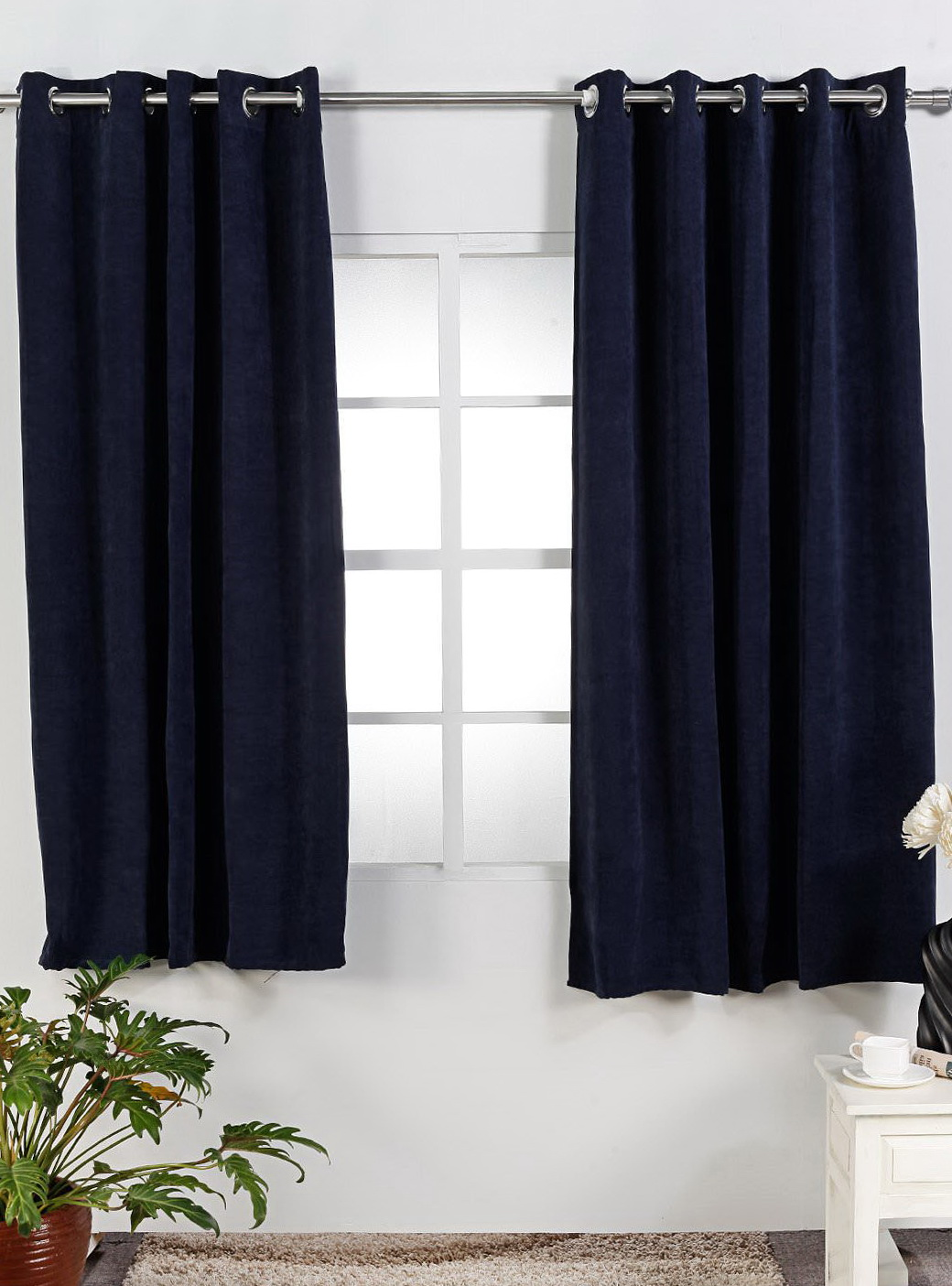 Navy Blue Bedroom Curtains Home Design Ideas