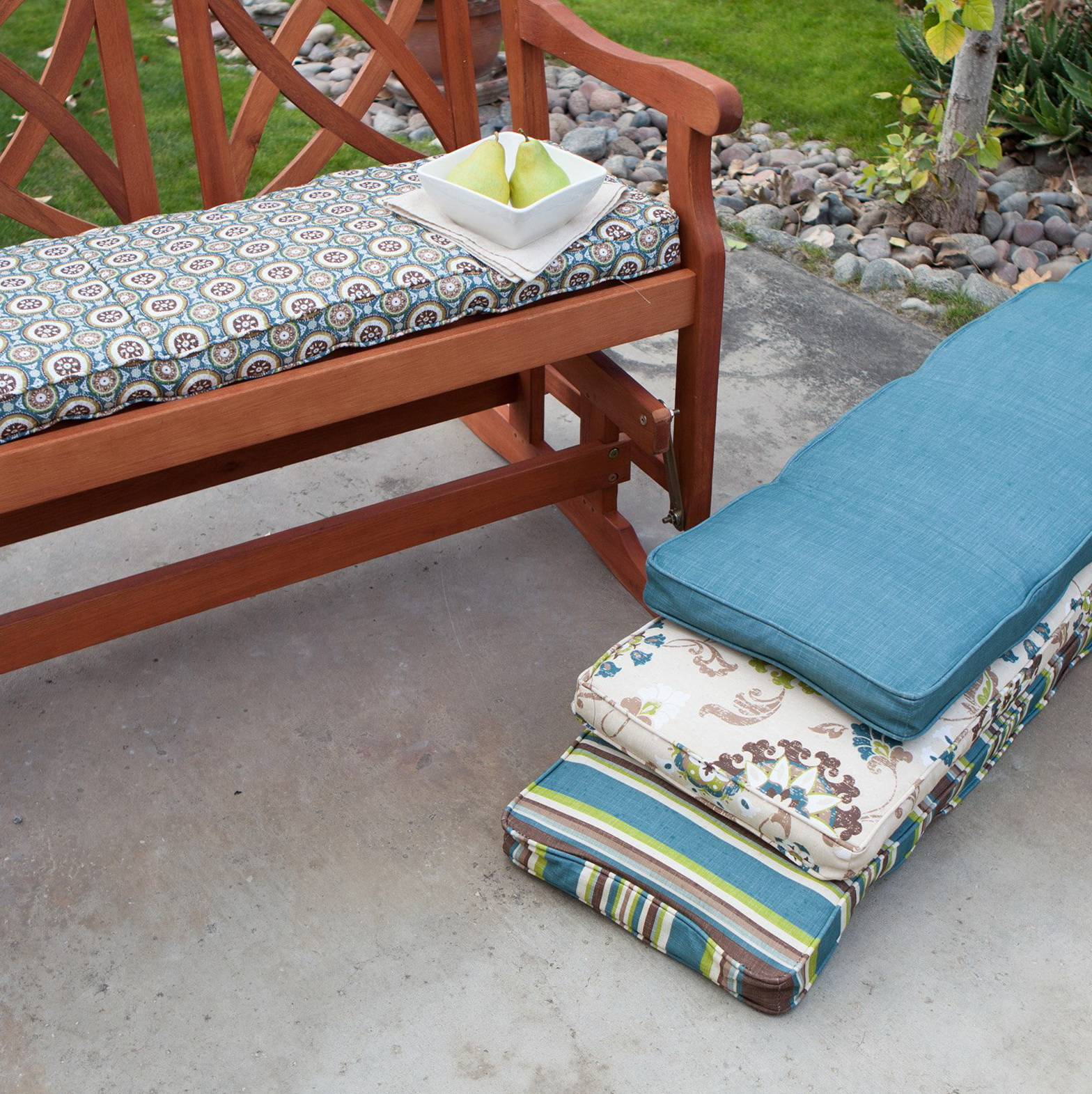 homes delahey and bench ip outdoor walmart gardens brown dark seat com better backless