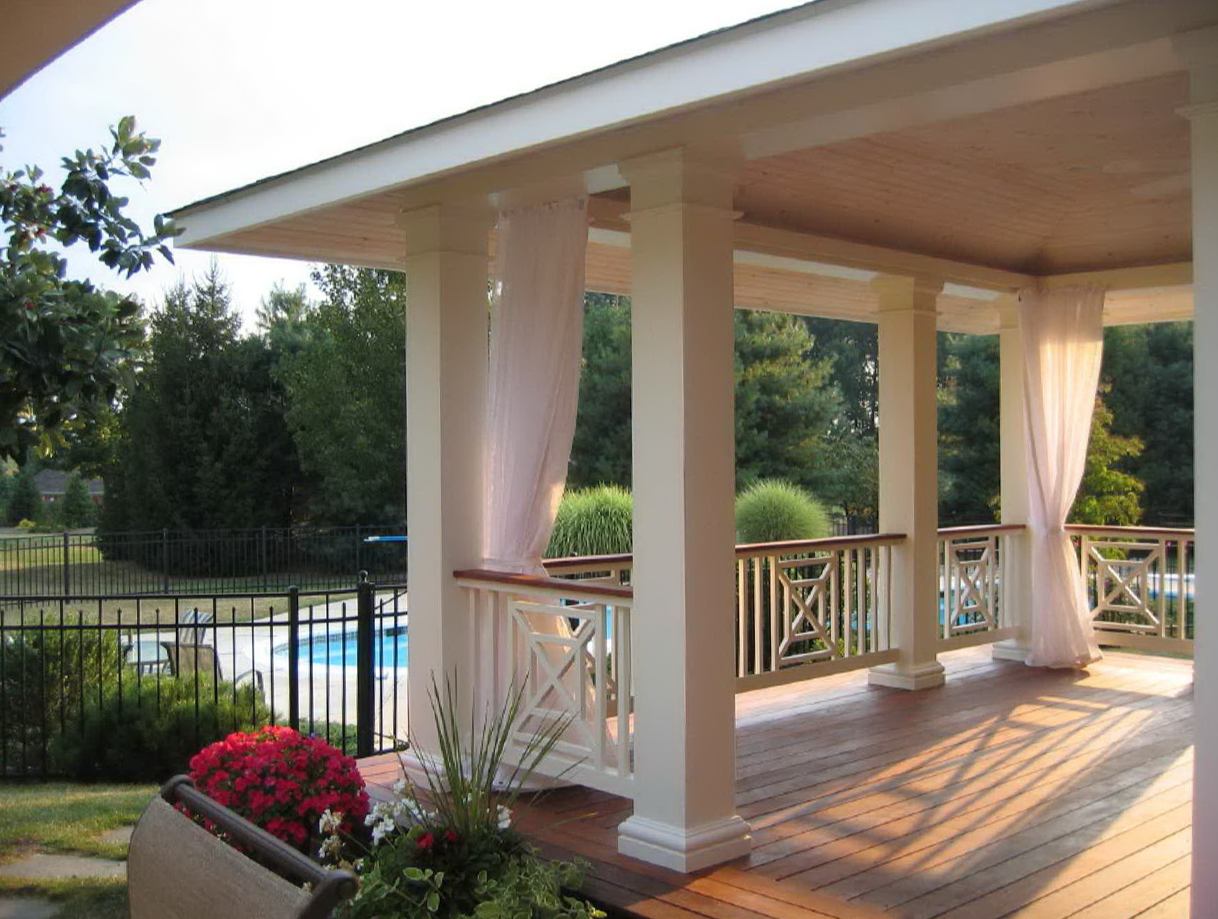 Outdoor Curtains Front Porch Home Design Ideas