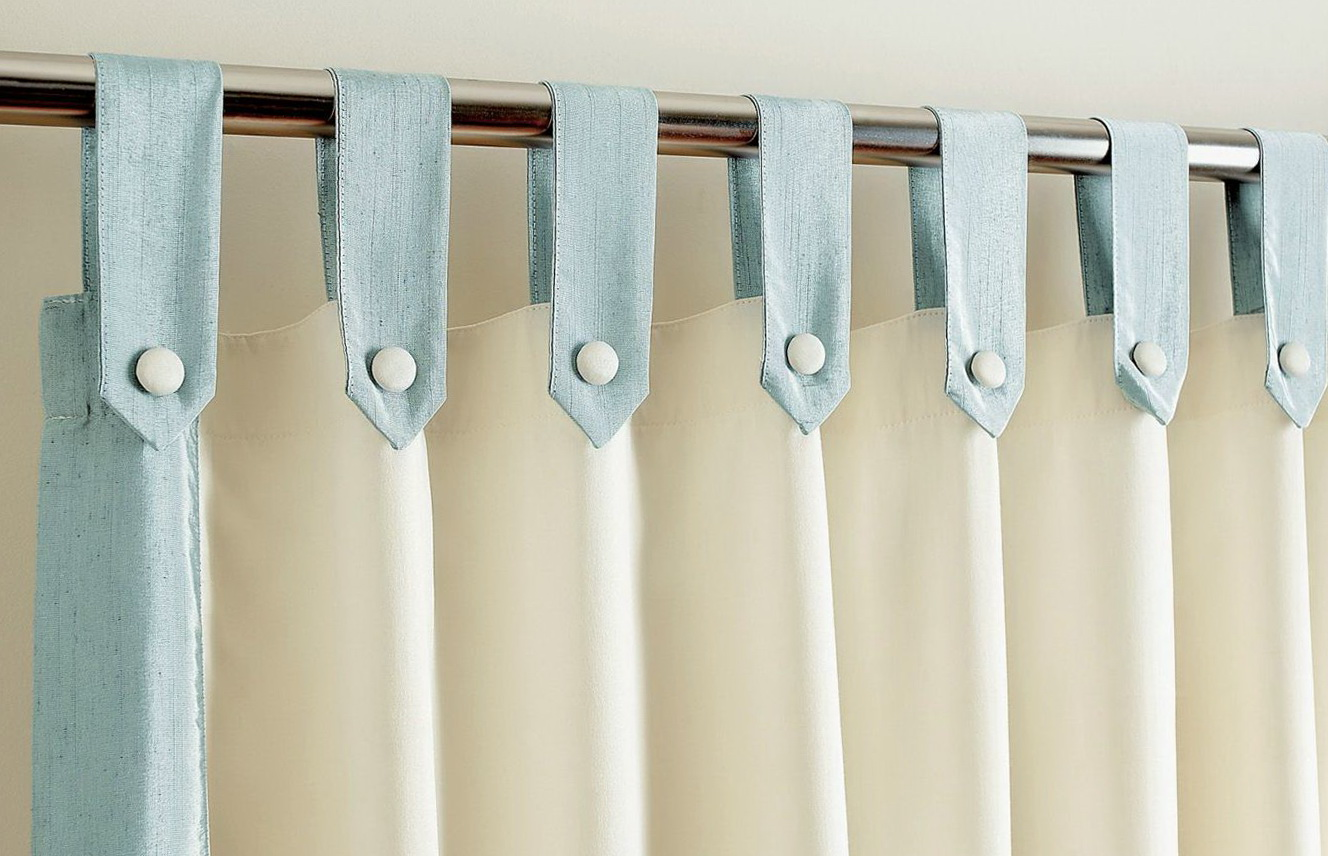 Pale Blue And Cream Curtains