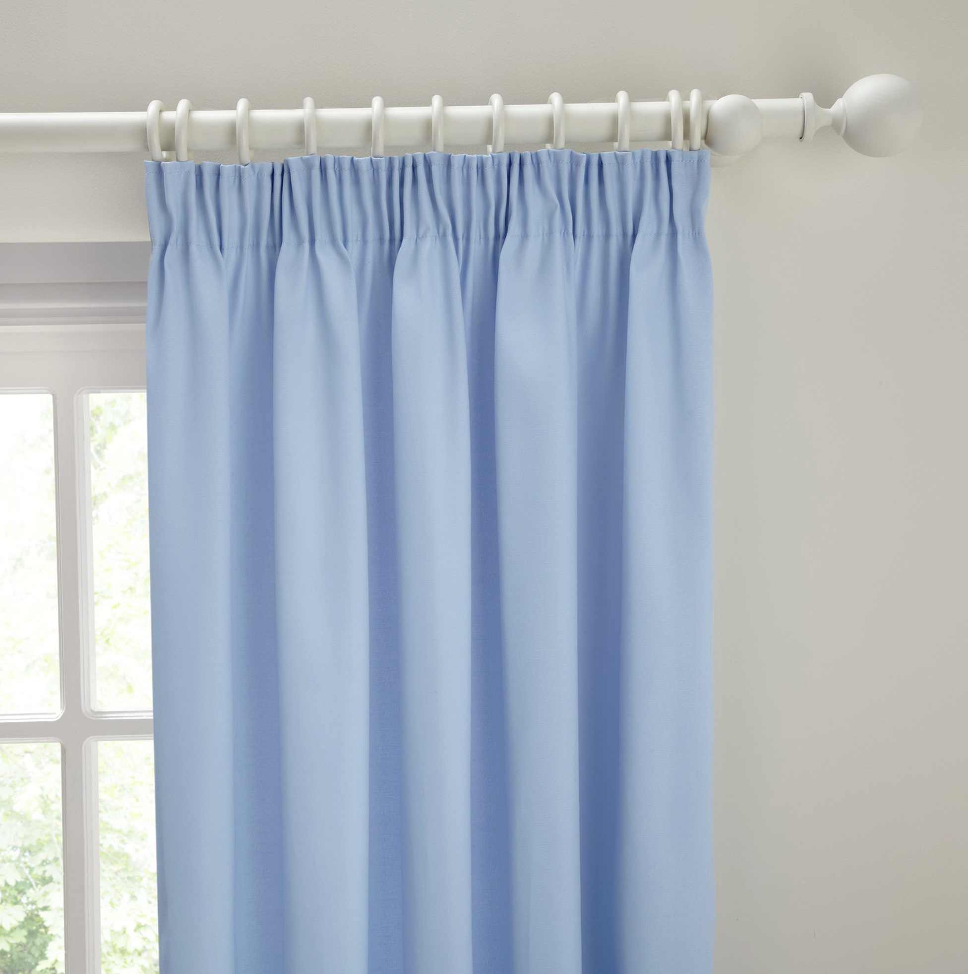 Pale Blue Eyelet Curtains