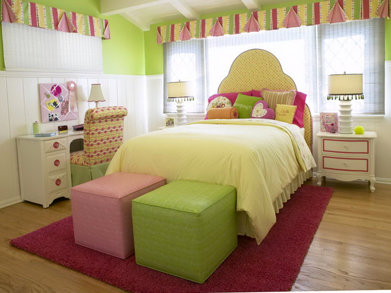 Pink And Lime Green Curtains