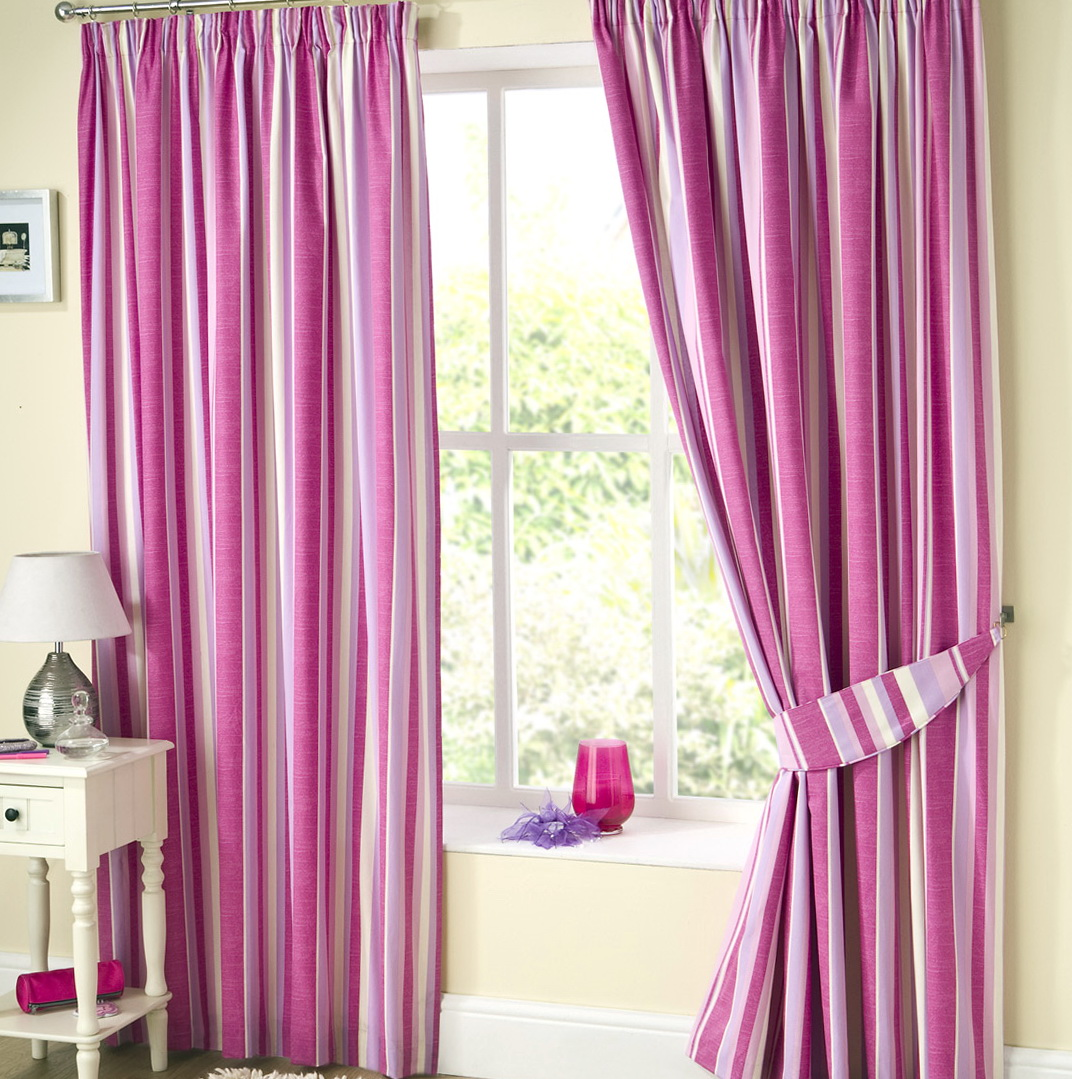 Pink Striped Curtains Uk Home Design Ideas