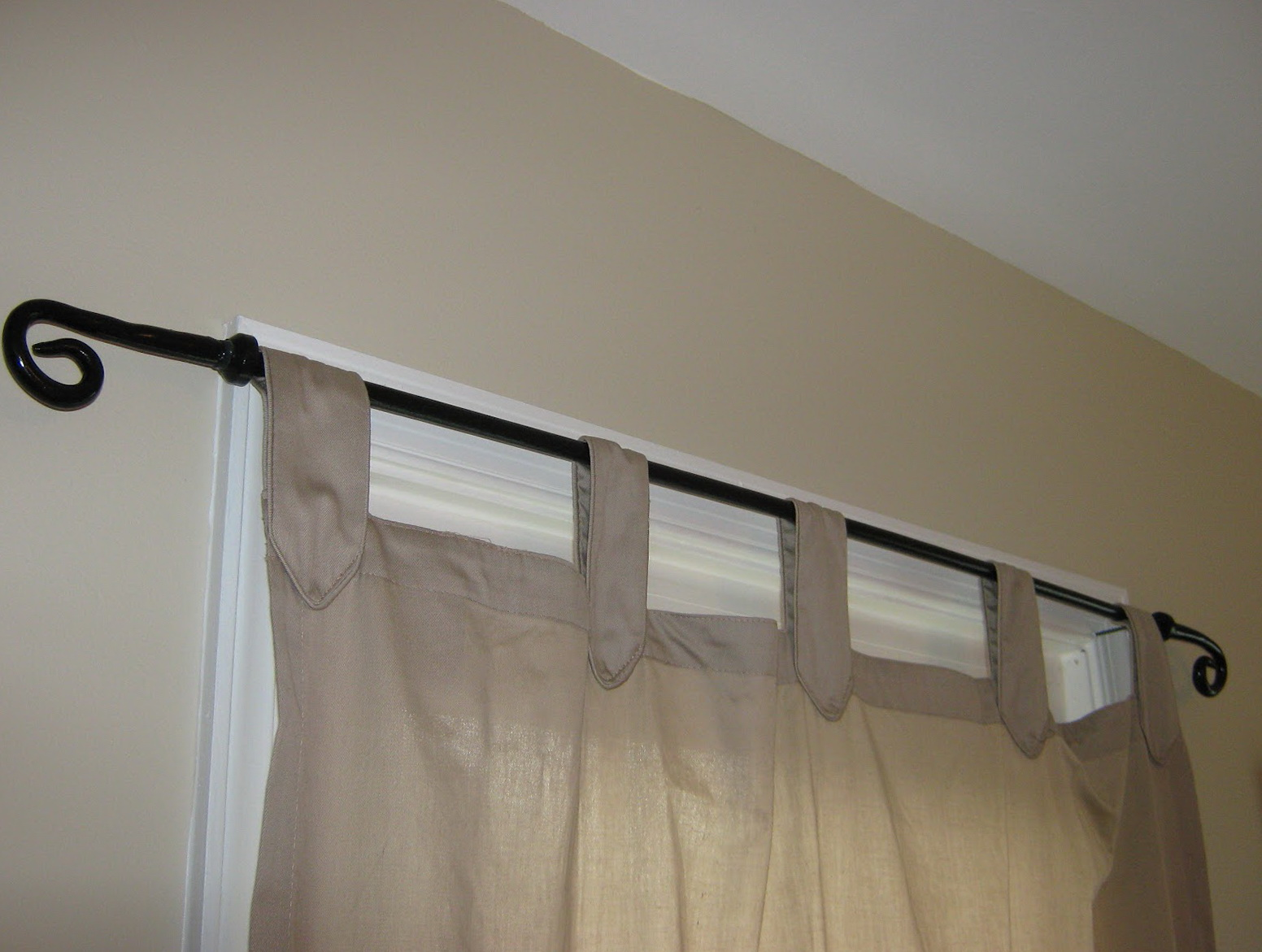 Pottery Barn Curtain Rod Installation