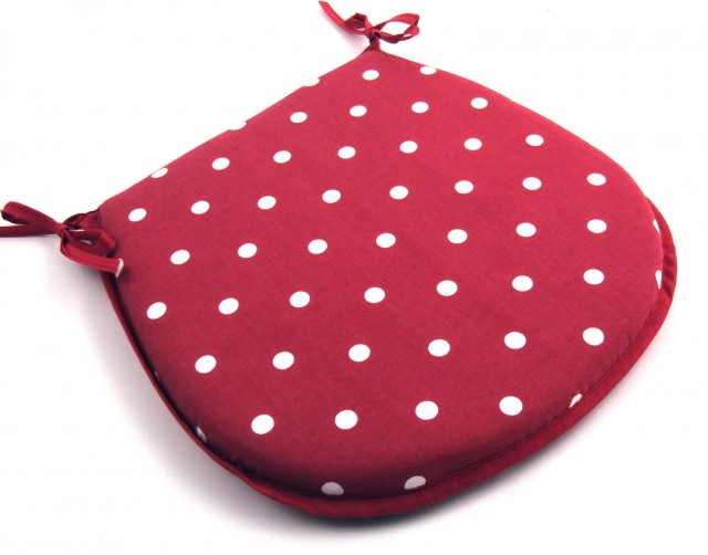 Red Chair Cushions With Ties