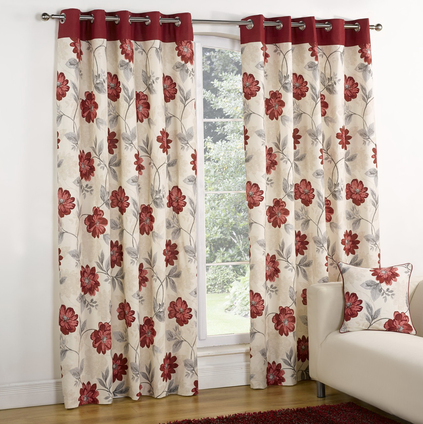 Red Cream And Black Curtains Home Design Ideas
