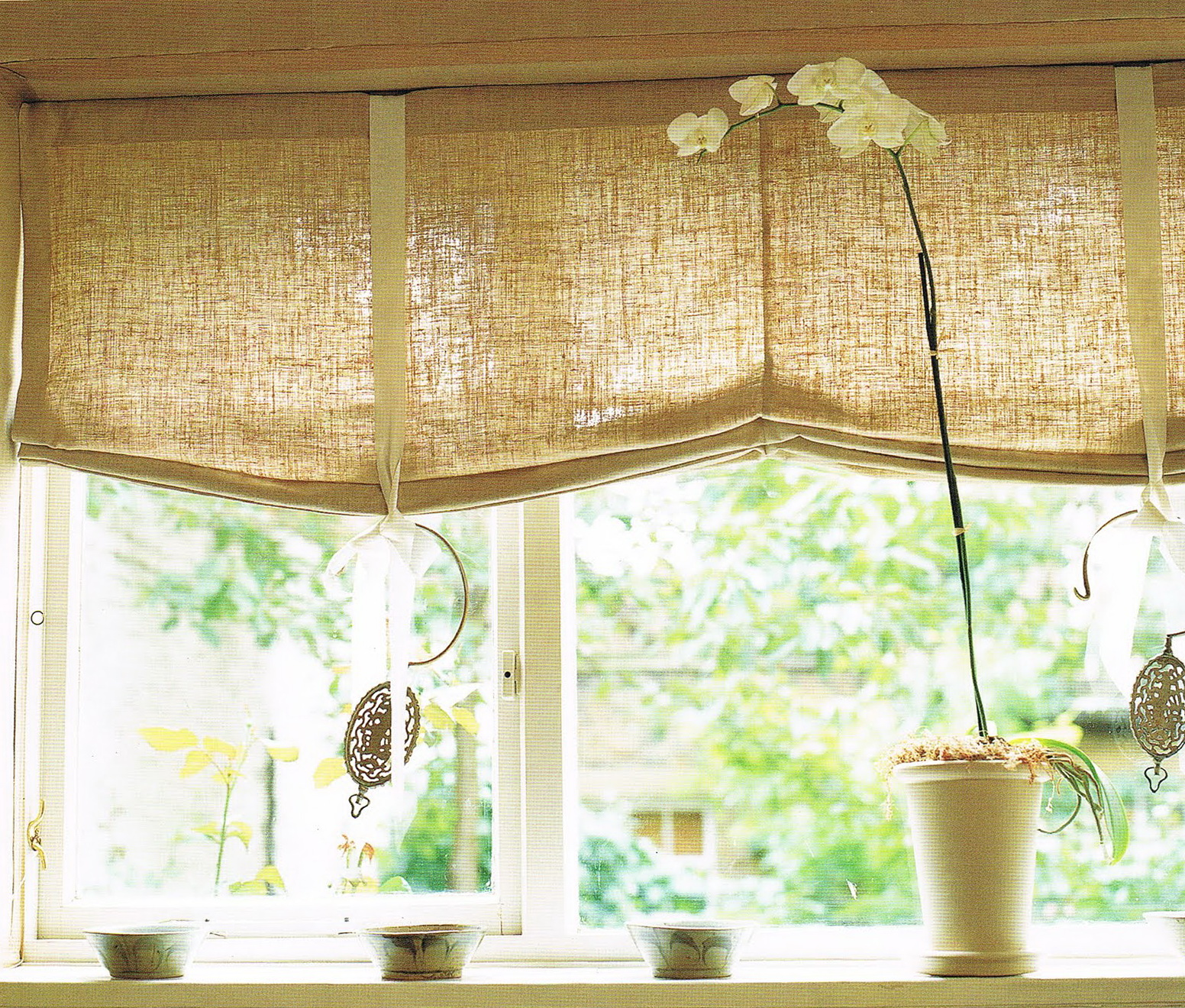 Roman Shade Kitchen Curtains