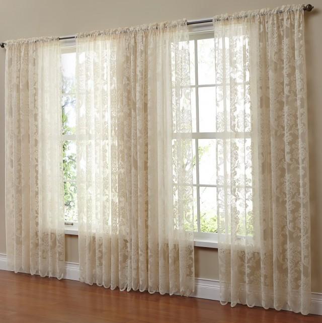 36 Fabulous Home Libraries Showcasing Window Seats: Sheer Curtains Inside Window Frame
