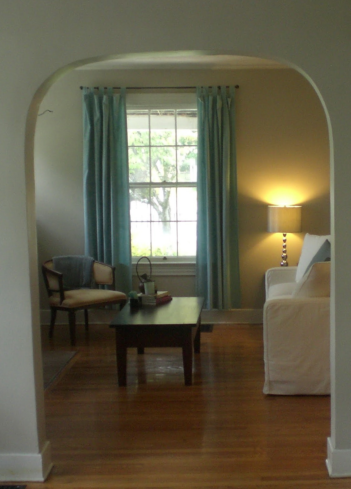 Short Curtains In Living Room
