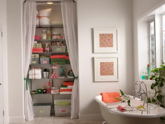 Shower Curtain Closet Door