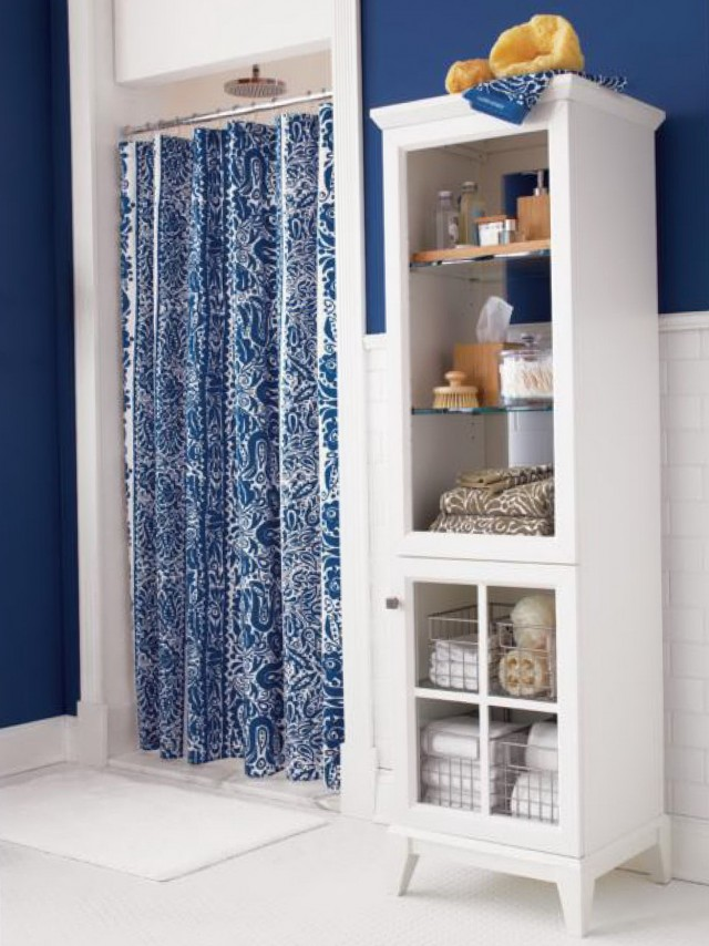 Shower Curtains Blue And White