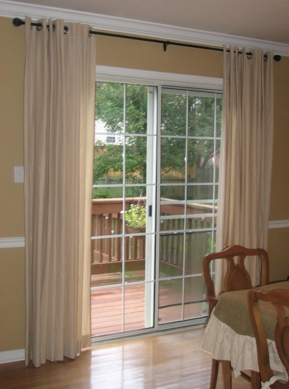 Standard Curtain Length For Sliding Glass Door Home