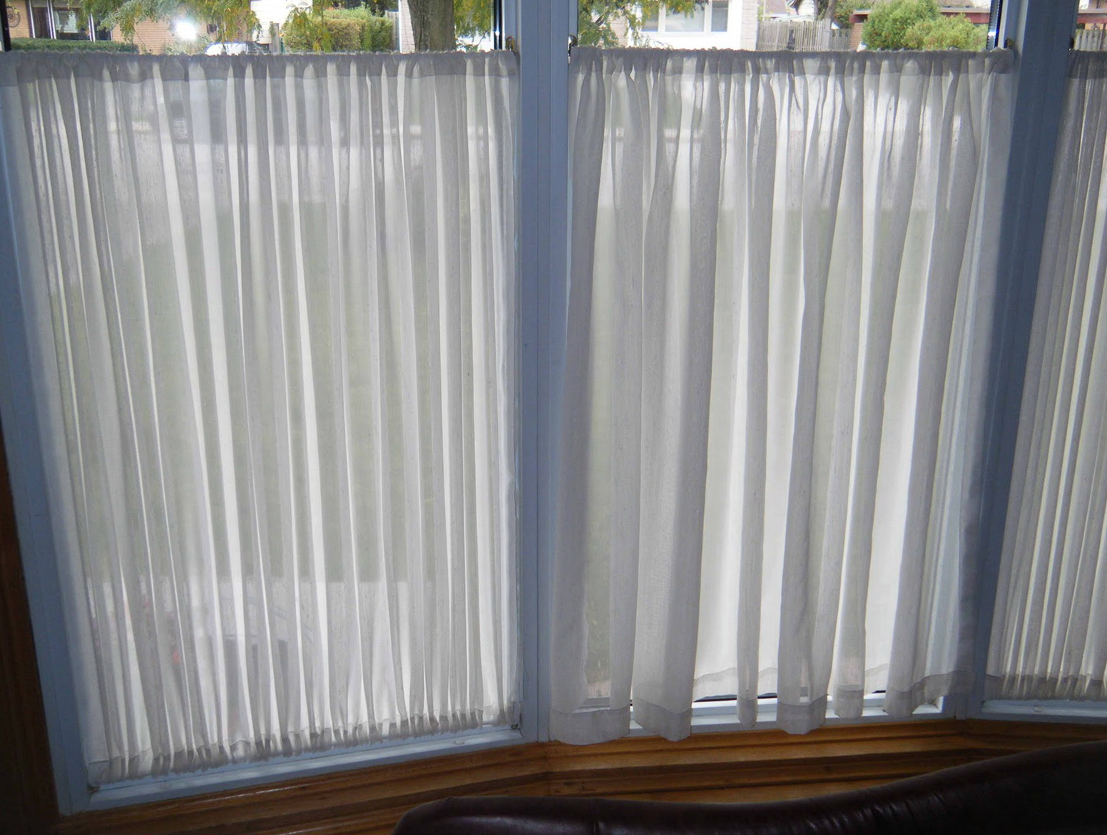 Tension Rod Curtains Top And Bottom