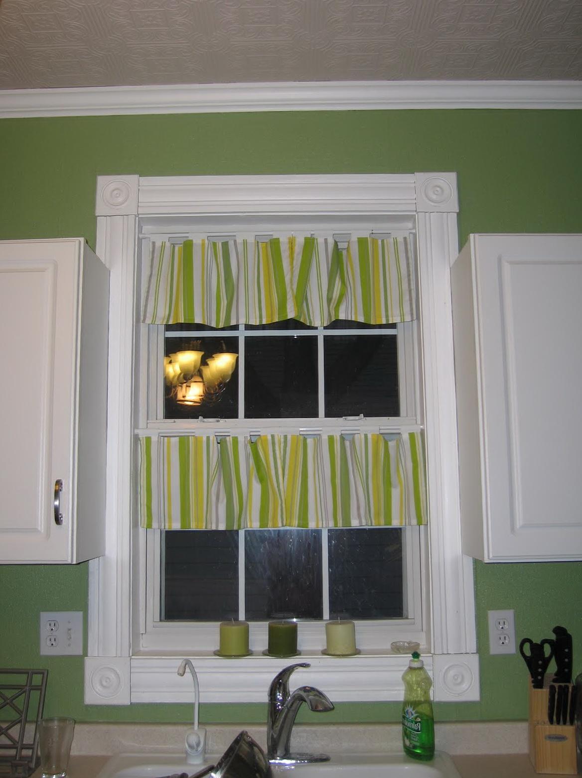 Tension Rod Kitchen Curtains