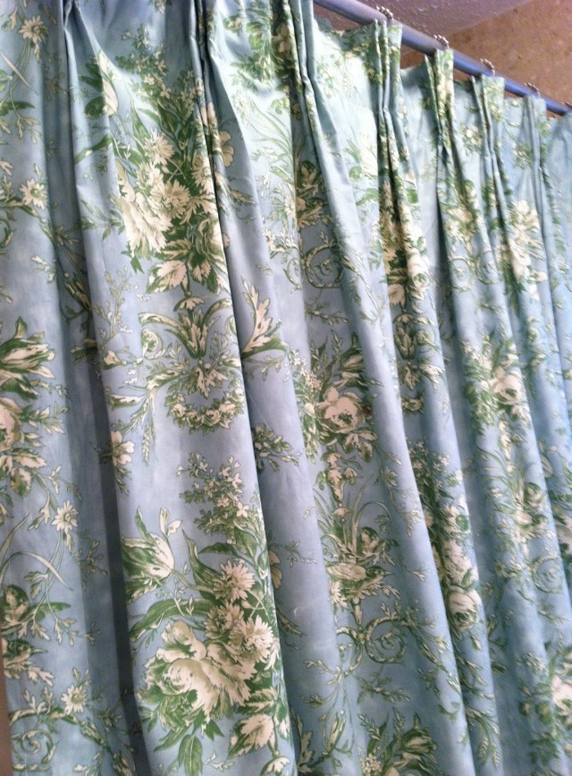 Yellow And Blue Toile Curtains Home Design Ideas