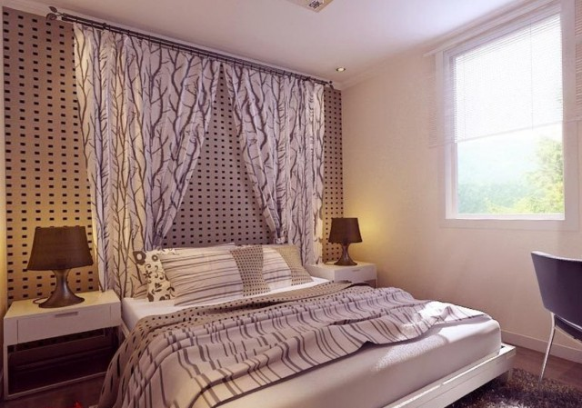 Wall To Wall Curtains In Bedroom