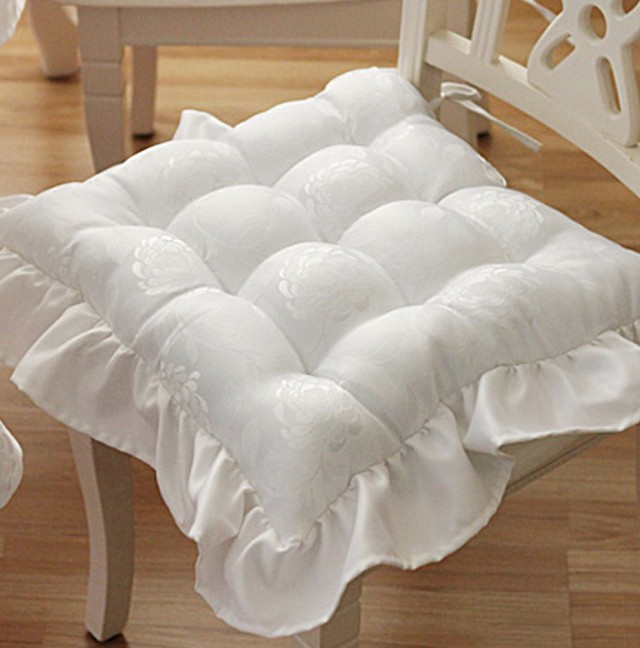 White Chair Pads Cushions