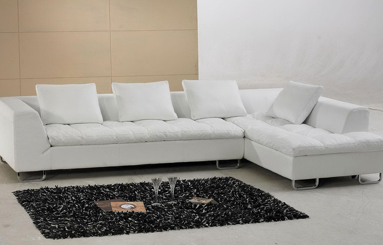 White Leather Sofa Cushions