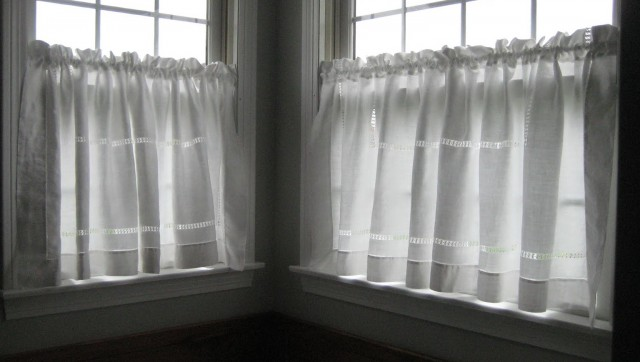 White See Through Curtains