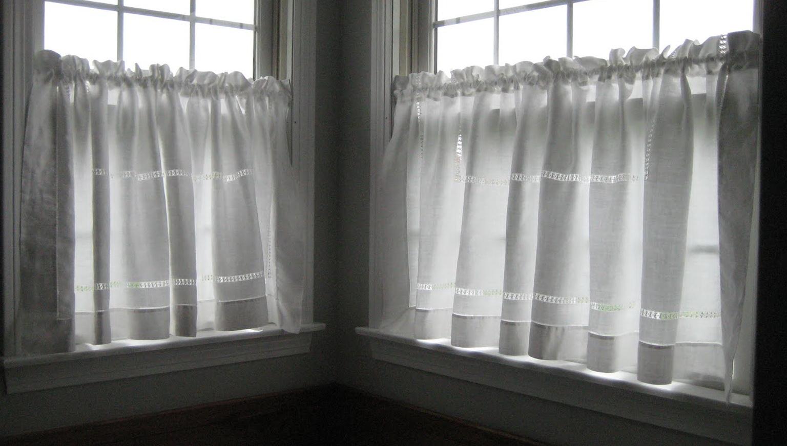 White See Through Curtains