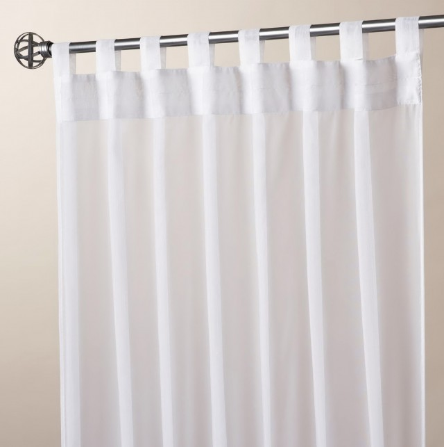 White Tab Top Curtains Uk