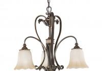 3 Light Chandelier Bronze