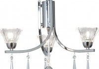 3 Light Chandelier Chrome