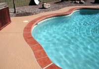 Acrylic Lace Pool Deck